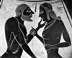 Ancient Greek representation of male love. Bisexual practices were widely accepted and honored in ancient Greece